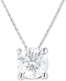 "Diamond Solitaire 18"" Pendant Necklace (1-1/4 ct. t.w.) in 14k White Gold"