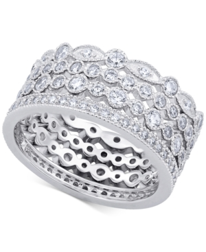4-Pc. Set Cubic Zirconia Stackable Bands in Sterling Silver