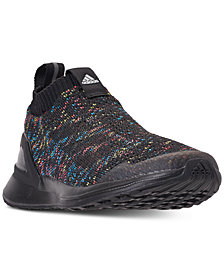 adidas Boys' RapidaRun Laceless Knit Running Sneakers from Finish Line