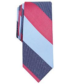 Bar III Men's Pierce Stripe Skinny Silk Tie, Created for Macy's