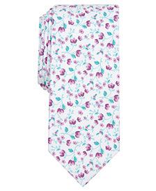 Bar III Men's Vine Floral Skinny Tie, Created for Macy's