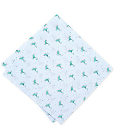 Bar III Men's Frog Stripe Pocket Square, Created for Macy's