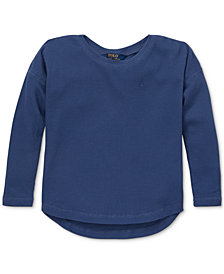 Polo Ralph Lauren Toddler Girls Waffle-Knit Top