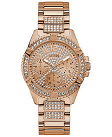 GUESS Women's Lady Frontier Rose Gold-Tone Stainless Steel Bracelet Watch 40mm