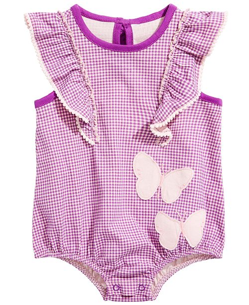 adfb49c02 ... First Impressions Baby Girls Cotton Ruffle Gingham Romper, Created for  Macy's ...