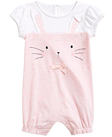 First Impressions Baby Girls Bunny-Face Romper, Created for Macy's