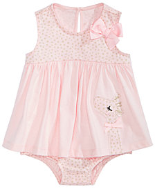 First Impressions Baby Girls Cotton Giraffe Skirted Romper, Created for Macy's