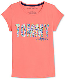 Tommy Hilfiger Big Girls Sprinkles Cotton T-Shirt