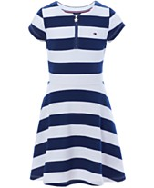 aee3c71d7859 Tommy Hilfiger Big Girls Rugby Stripe Dress
