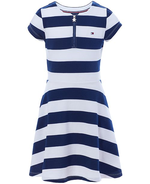 fe8bc7dfd Tommy Hilfiger Big Girls Rugby Stripe Dress & Reviews - Dresses ...