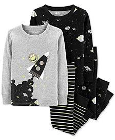 Carter's Toddler Boys 4-Pc. Cotton Space Pajamas