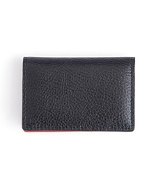 Pebbled Leather Snap Closure Card Case