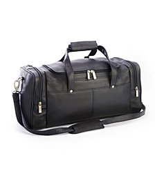 Royce New York Overnight Duffel Bag with Shoe Compartments