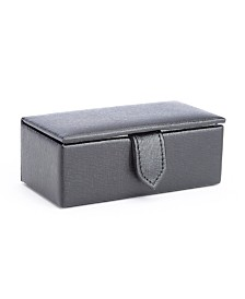 Royce New York Suede Lined Cufflink Box