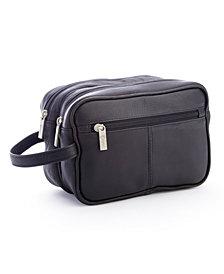 Royce New York Double Zippered Toiletry Bag