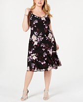 Adrianna Papell Plus Size Floral Sequin Dress aedd91483efa