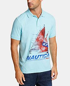 Nautica Men's Sailboat Graphic Polo
