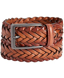 Perry Ellis Men's Braided Belt