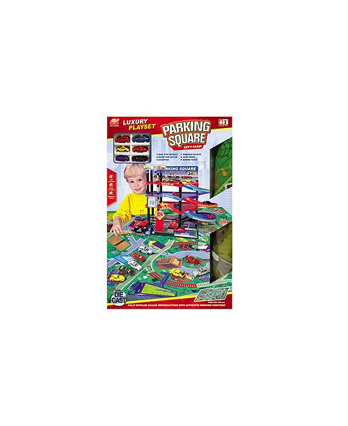 Fundamental Toys Lucky Toys - Parking Lot With Playmat Set, 47 Pieces