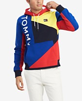 58b5b8cb2676d Tommy Hilfiger Men s Big   Tall Finesse Regular-Fit Colorblocked Logo Hoodie