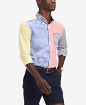 Tommy Hilfiger Men s Classic-Fit Foster Colorblocked Stripe Shirt 4cf2049c4