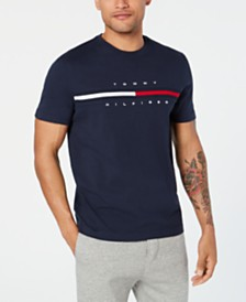 Tommy Hilfiger Men's Big and Tall Logo-Print T-Shirt, Created for Macy's