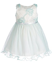 Bonnie Baby Baby Girls Wire-Hem Ballerina Dress
