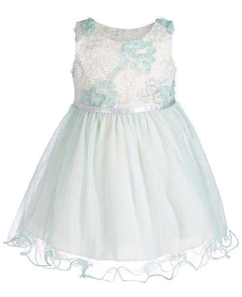 Bonnie Baby Baby Girls Wire-Hem Ballerina Dress