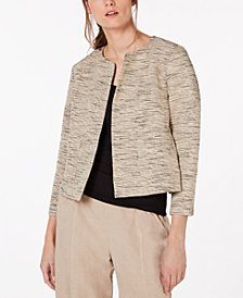 Eileen Fisher Organic Cotton Open-Front Jacket