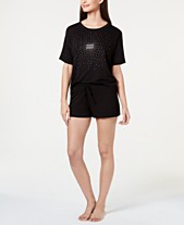 76b1565b79eb Jenni by Jennifer Moore Core Short-Sleeve Top & Pajama Shorts Sleep  Separates, Created