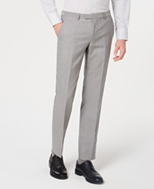 HUGO Men's Slim-Fit Tonal Grid Pants
