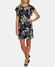 444fb4d95849 CeCe Floral-Print Ruffle-Sleeve Dress