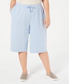 Karen Scott Plus Size Skimmer Pants, Created for Macy's