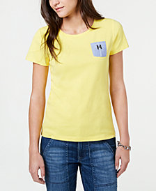 Tommy Hilfiger Chambray-Pocket Cotton T-Shirt, Created for Macy's