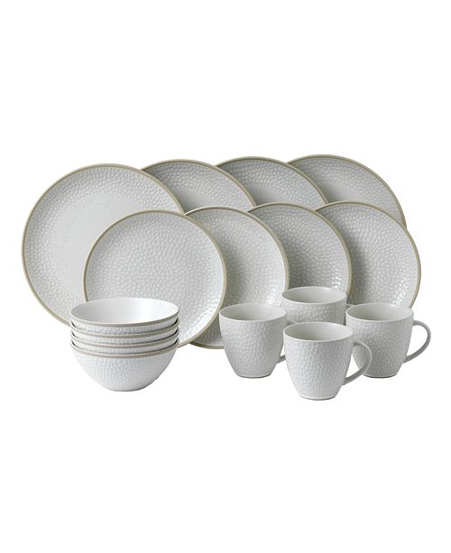 Gordon Ramsay Royal Doulton Exclusively for Maze Grill Hammer White 16-Piece Set