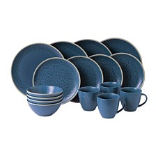 Royal Doulton Exclusively for Gordon Ramsay Maze Grill Hammer Blue 16-Piece Set