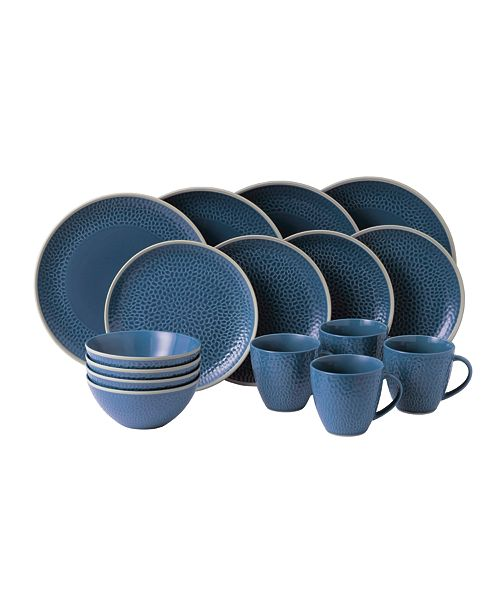 Gordon Ramsay Royal Doulton Exclusively for Maze Grill Hammer Blue 16-Piece Set