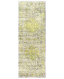 "Himalayan HIM-2303 Bright Yellow 2'7"" x 7'3"" Runner Area Rug"