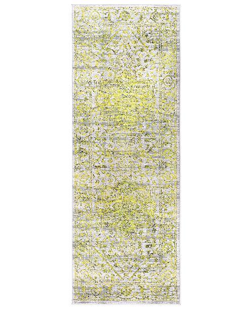 "Surya Himalayan HIM-2303 Bright Yellow 2'7"" x 7'3"" Runner Area Rug"