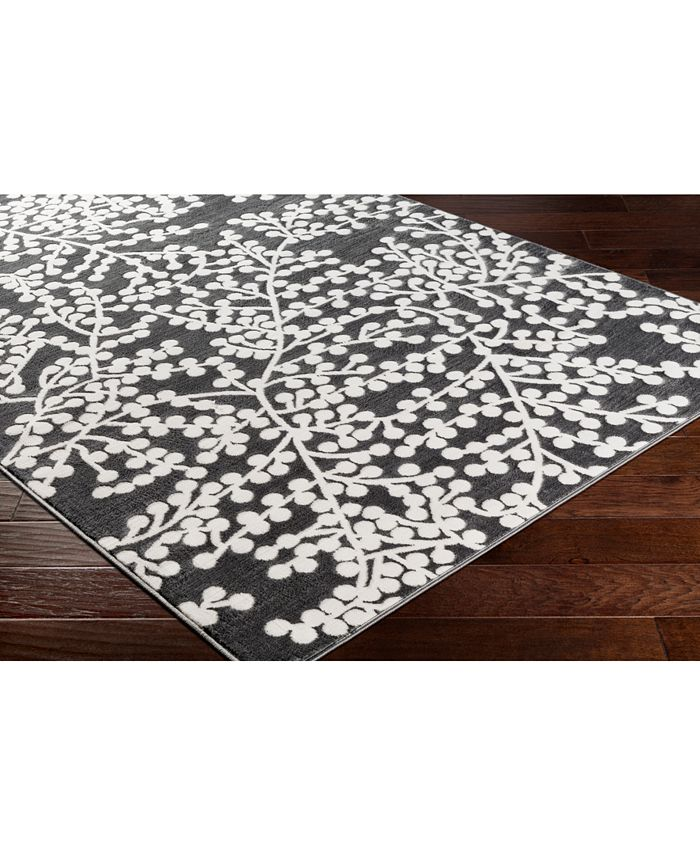 """Abbie & Allie Rugs - Rabat RBT-2311 Charcoal 18"""" Square Swatch"""