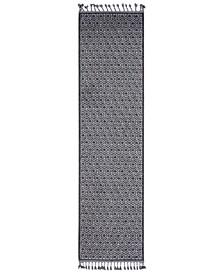 "Restoration REO-2305 Charcoal 2'7"" x 10' Runner Area Rug"