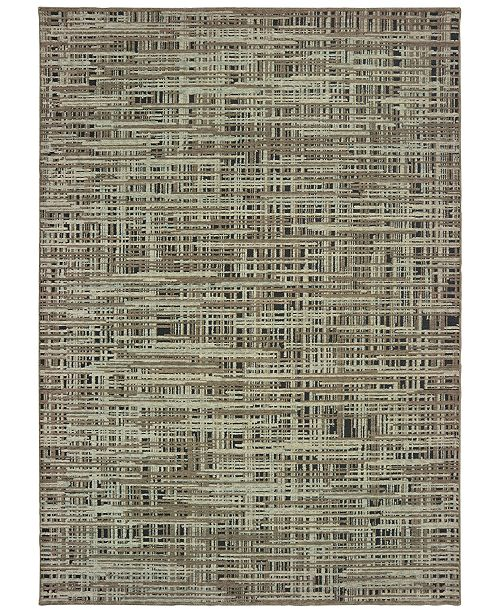 Oriental Weavers Montage 5503E Gray/Green 2' x 3' Area Rug