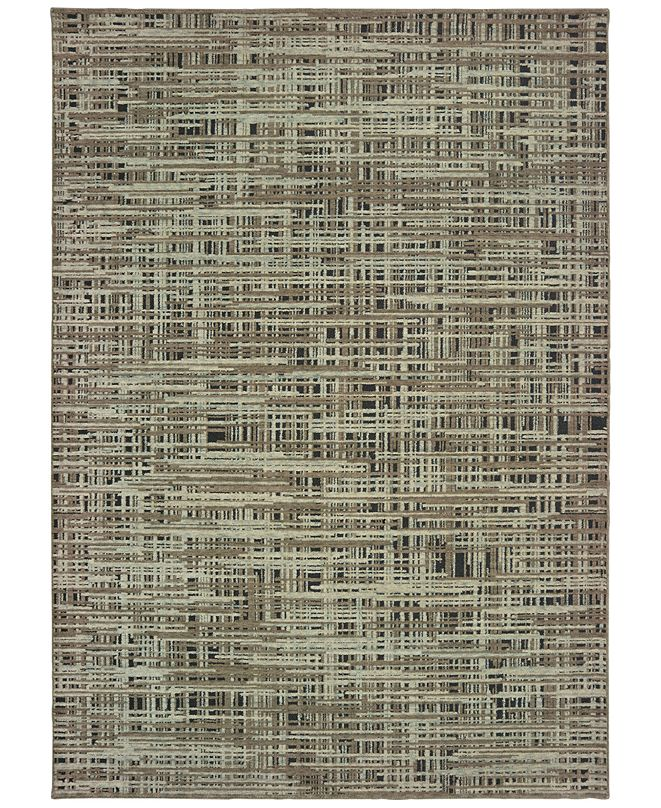 "Oriental Weavers Montage 5503E Gray/Green 2'3"" x 10' Runner Area Rug"