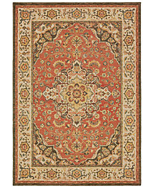 "Oriental Weavers Toscana 9551B Orange/Ivory 2'3"" x 7'6"" Runner Area Rug"