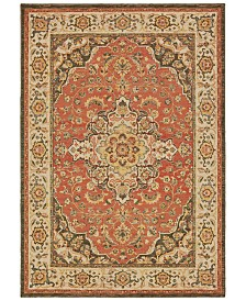 "Oriental Weavers Toscana 9551B Orange/Ivory 3'10"" x 5'5"" Area Rug"