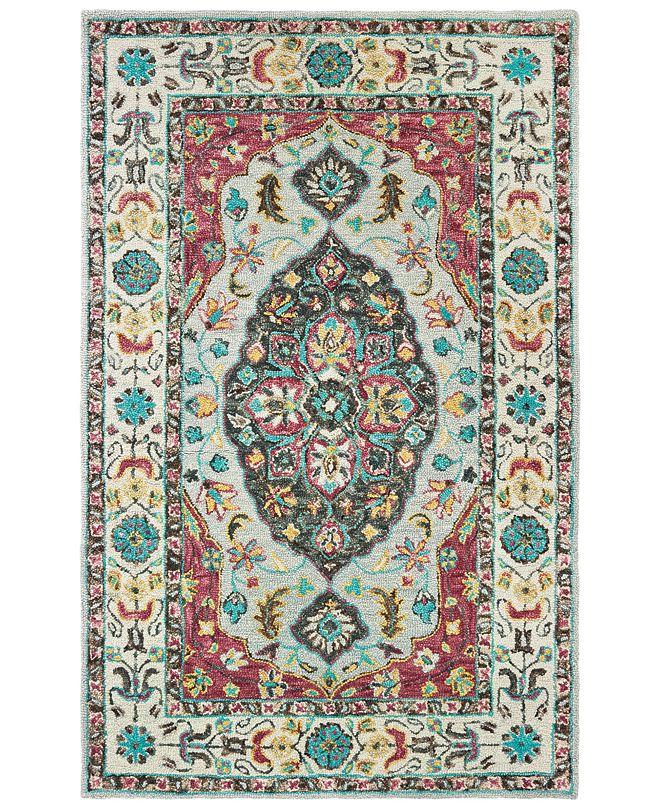 Oriental Weavers Zahra 75504 Grey/Pink 8' x 10' Area Rug
