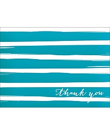 Brush Striped Thank You Note Boxed Cards