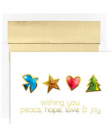Peace Hope Love And Joy Holiday Boxed Cards