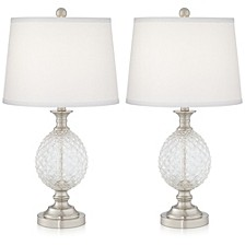 Pineapple Glass Table Lamps- Set of 2