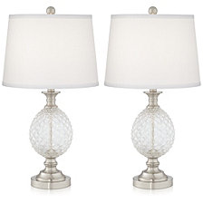 Pacific Coast Pineapple Glass Table Lamps- Set of 2